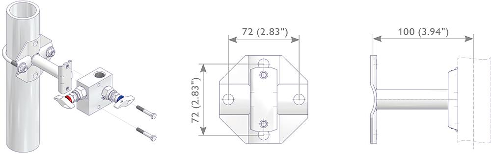 Mounting Bracket Kit Drawing (arrangement) 1