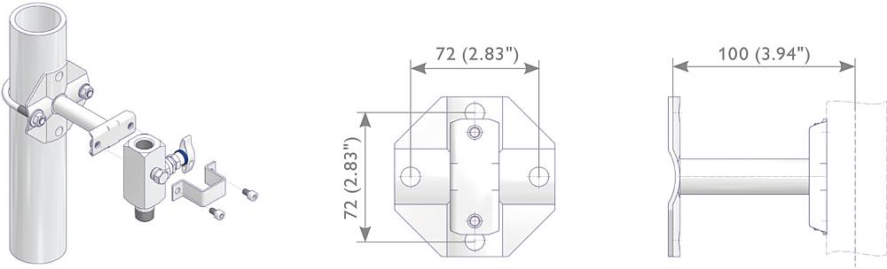 Mounting Bracket Kit Drawing (arrangement)