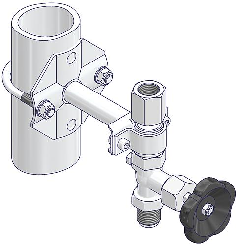 Mounting Brackets for Gauge Valves  Drawing (arrangement)