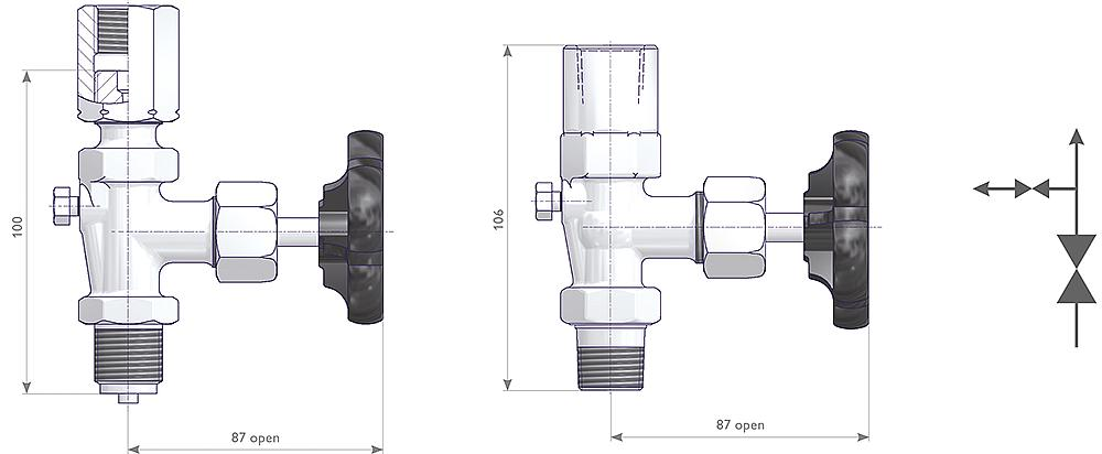 Gauge Valves Drawing (arrangement) 1