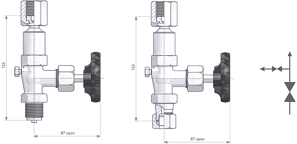 Gauge Valves Drawing (arrangement)