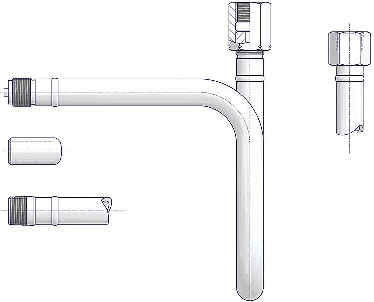 AS-Schneider - Wassersackrohre U-Form