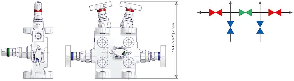 5 Valve Manifolds Drawing (arrangement)