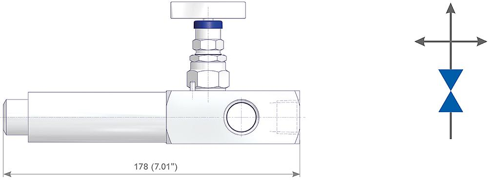Multiport Gauge Valves Drawing (arrangement)