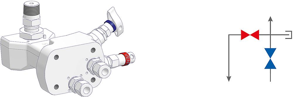 2 Valve Manifolds Drawing (arrangement)